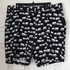 NWT Crown & Ivy Black and White Elephant Shorts